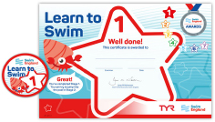 Swim England swimming certificate hastings seans swim school